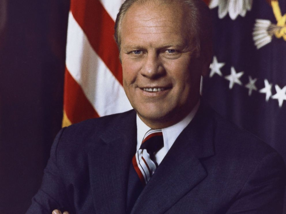 PHOTO: President Gerald R. Ford poses for an official portrait in 1975 in Washington, D.C.