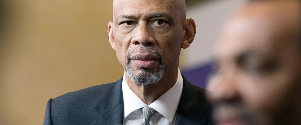 "PHOTO: Basketball legend Kareem Abdul-Jabbar attends the ""Kareem: Minority Of One"" New York premiere at Time Warner Center on Oct. 26, 2015 in New York City."