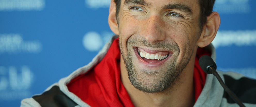 PHOTO: Michael Phelps speaks to media during the Team USA squad press conference at the Gold Coast Aquatics Centre on August 20, 2014 in Gold Coast, Australia.