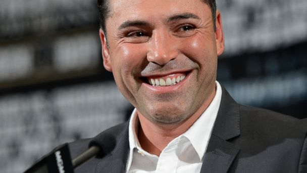 PHOTO: President of Golden Boy Promotions Oscar De La Hoya during the final news conference at the MGM Grand Hotel/Casino on May 2, 2013 in Las Vegas, Nevada.