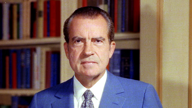 PHOTO: Portrait of former United States President Richard Nixon taken in the White House, Washington, D.C. 1972.