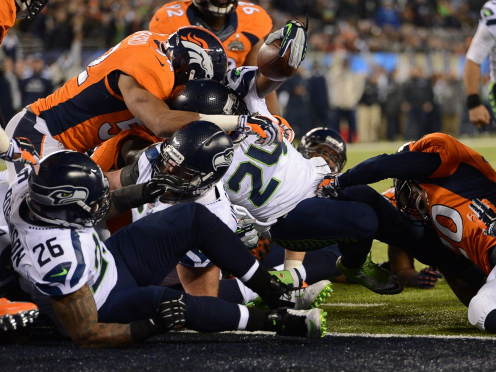 PHOTO: The Denver Broncos vs the Seattle Seahawks in Super Bowl XLVIII at MetLife Stadium in East Rutherford, New Jersey, Feb. 2, 2014.