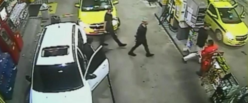 PHOTO: Surveillance video obtained by Globo TV shows Ryan Lochte and three other U.S. Olympic swimmers at a gas station in Rio de Janeiro, Brazil.