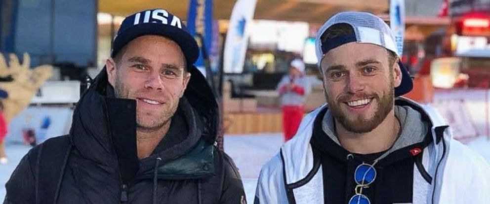 PHOTO: U.S. Olympic skier Gus Kenworthy (right) and boyfriend Matt Wilkas in PyeongChang, South Korea, in a photo Kenworthy posted to social media on Feb. 22, 2018.