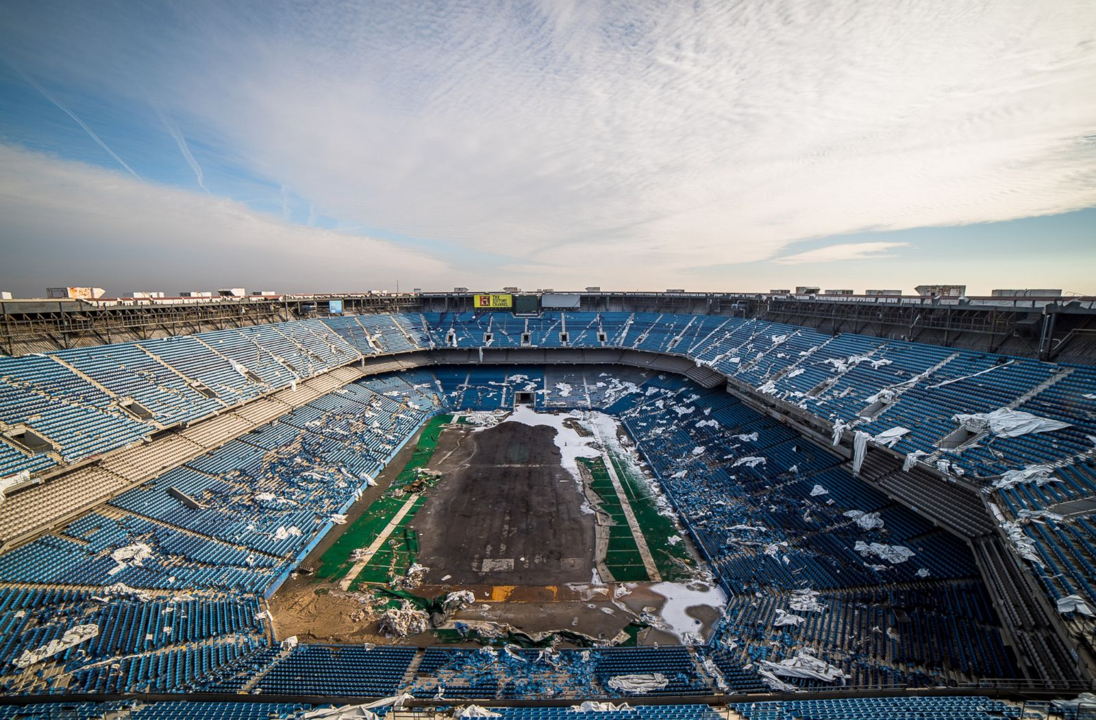 Pontiac Silverdome, Former Home to Detroit Lions, in Decay