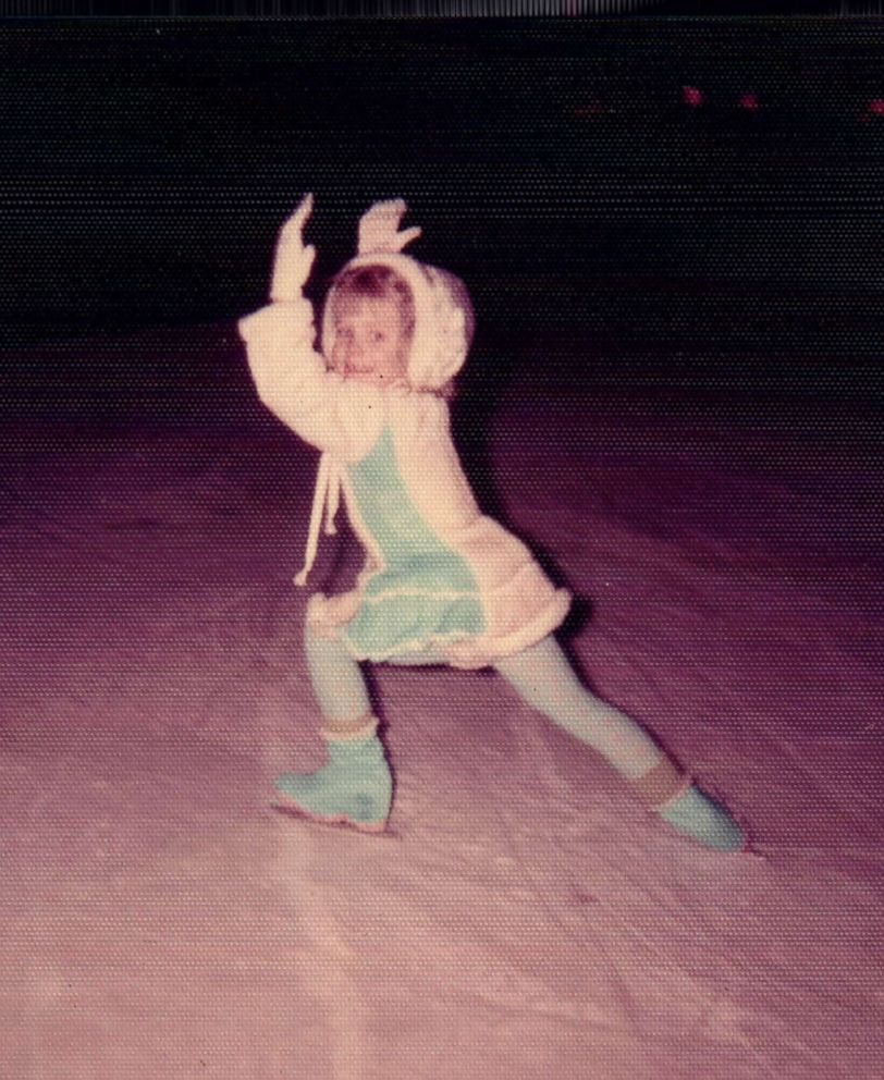 Tonya Harding is seen here skating as a young girl at the Lloyd Center in Portland, Oregon, in 1974.