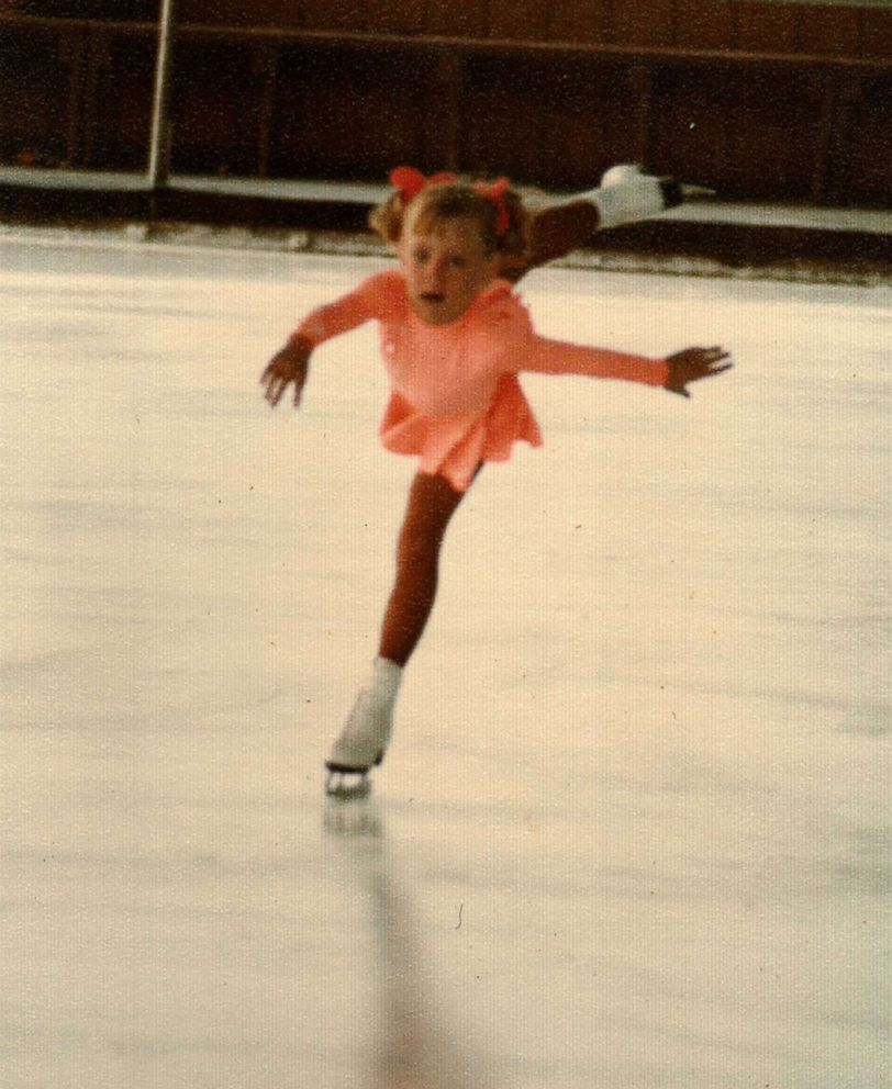 Tonya Harding is seen here skating a young girl in this undated family photo.