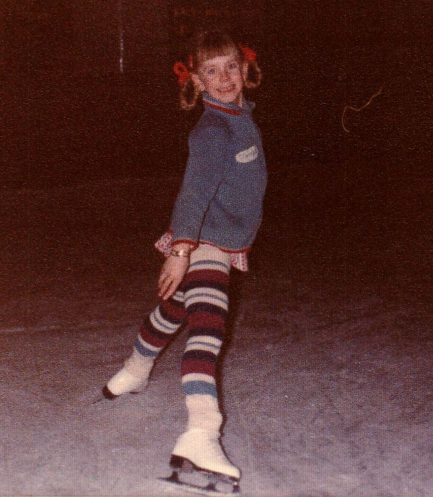 Tonya Harding is seen here skating in this undated family photo.