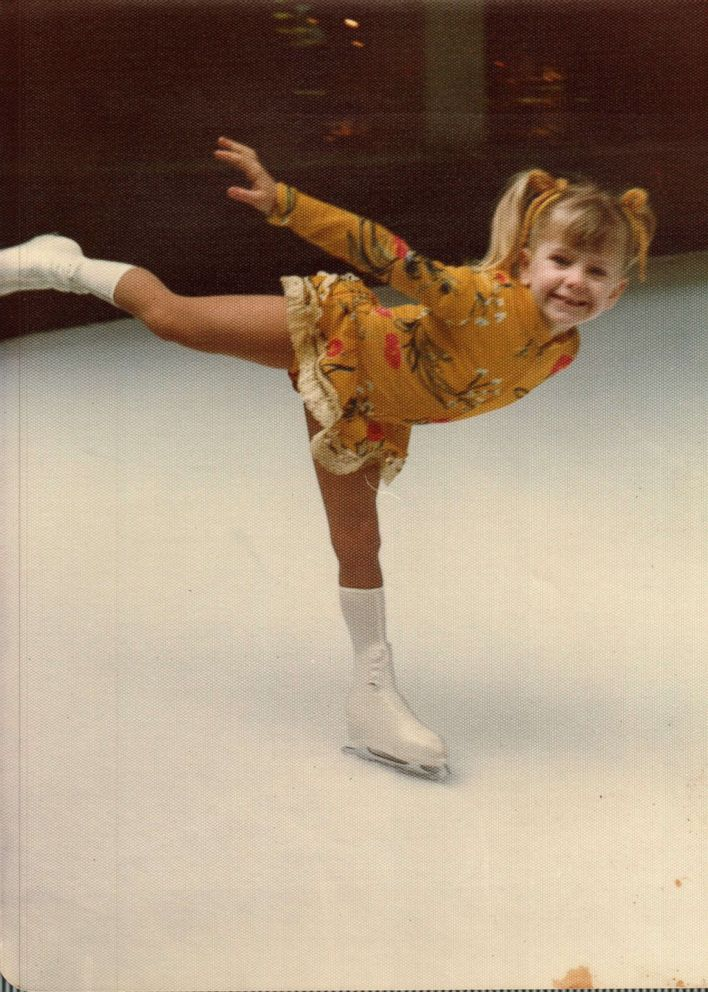 Tonya Harding is seen here skating at the Lloyd Center in Portland, Oregon, in this undated family photo.