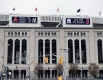 PHOTO: The Yankees tweeted this picture of Yankees Stadium showing their support for Boston, April 16, 2013.