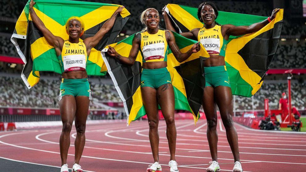 The Olympics - 2021 Jamaica-100m-track-tokyo-olympics-04-ap-llr-210731_1627747955776_hpMain_16x9_992