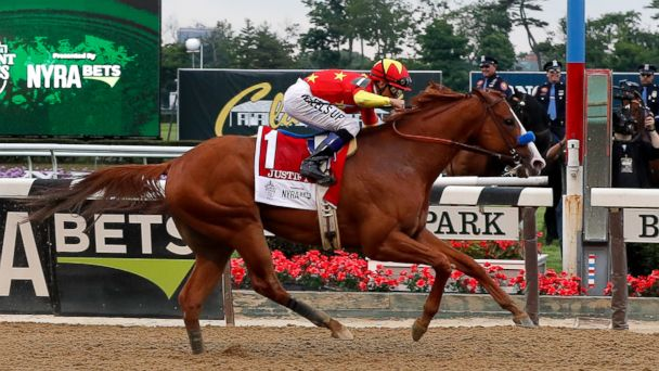 Justify leads wire to wire at Belmont to win the Triple Crown