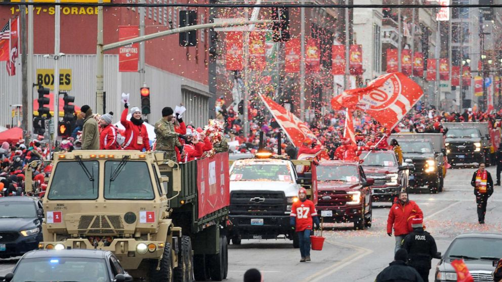 Super Bowl champs celebrate victory at parade