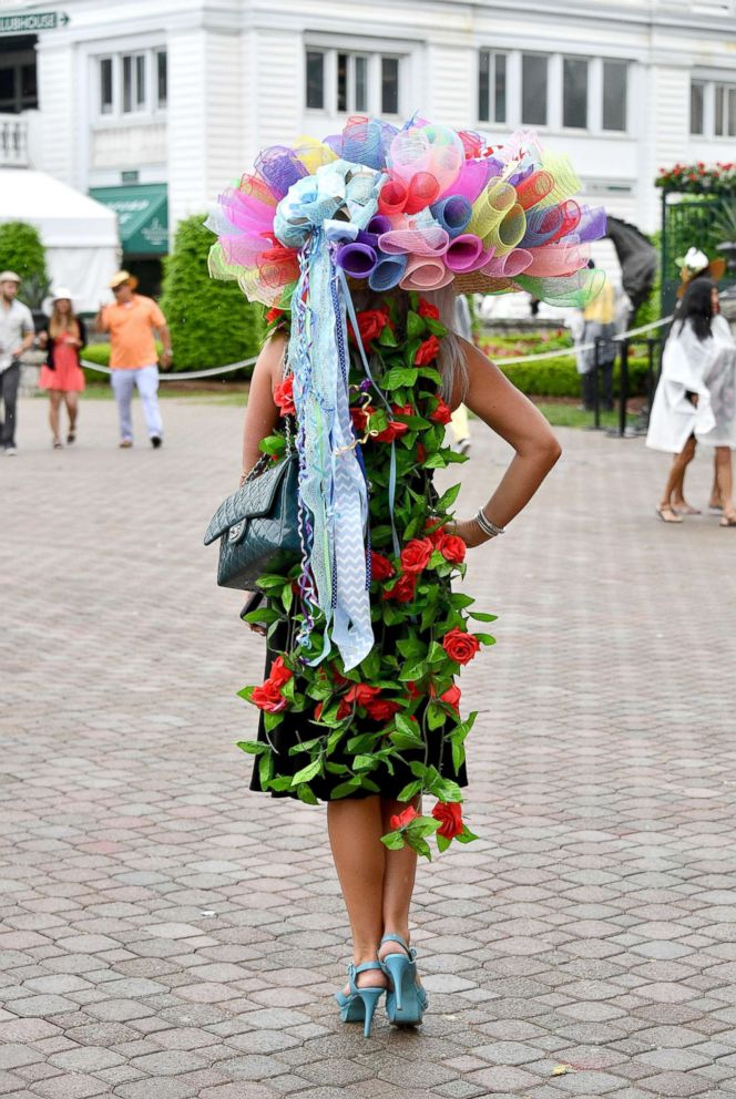 PHOTO: An ornate hat seen during the 144th Kentucky Derby at Churchill Downs, May 5, 2018 in Louisville, Ky.