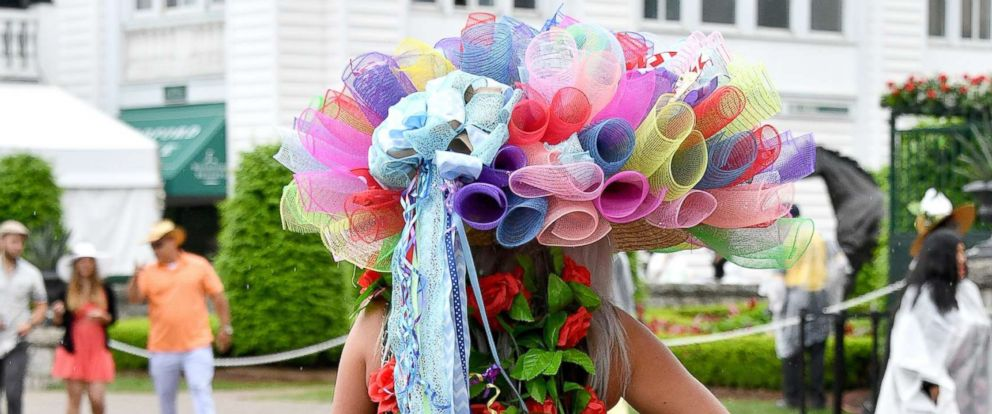 PHOTO: An ornate hat seen during to the 144th running of the Kentucky Derby at Churchill Downs on May 5, 2018 in Louisville, Ky.