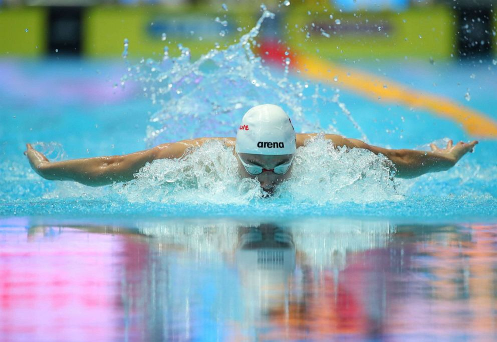 PHOTO: Kristof Milak of Hungary in action during the mens 200m Butterfly Final during the Swimming events at the Gwangju 2019 FINA World Championships, Gwangju, South Korea, July 24, 2019.