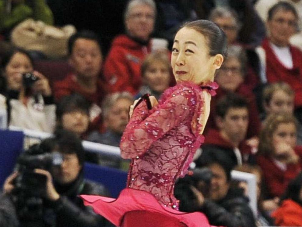 PHOTO: Japanese figure skater Mao Asada nails a triple axel in her short program at the Vancouver Olympics in Feb. 2010.