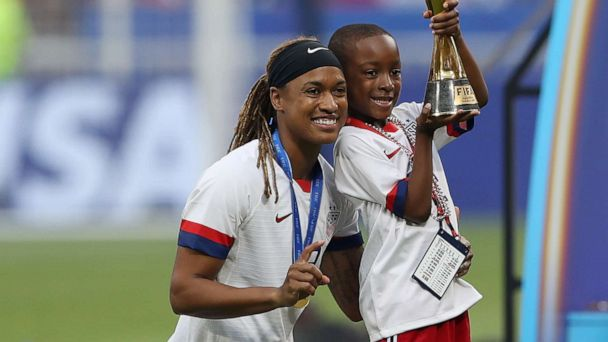 Jessica McDonald, the only mom on the US soccer team, just hopes her son remembers this