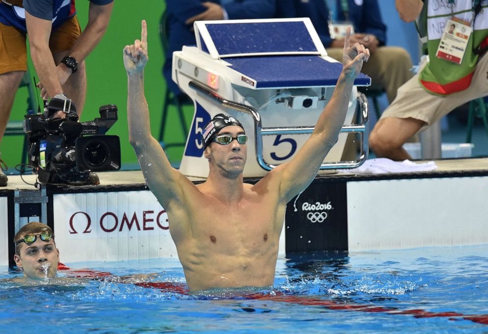 PHOTO: Michael Phelps winner of the Gold Medal, 200m Butterfly at the 2016 Rio Olympic Games on August 9, 2016 in Rio De Janeiro, Brazil.