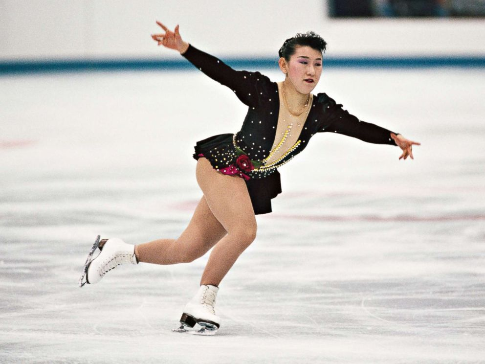 PHOTO: Japans Midori Ito performs at the 1992 Winter Olympics.