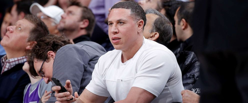 PHOTO: Former NBA player Mike Bibby in this March 9, 2018 file photo at Golden 1 Center in Sacramento, Calif.