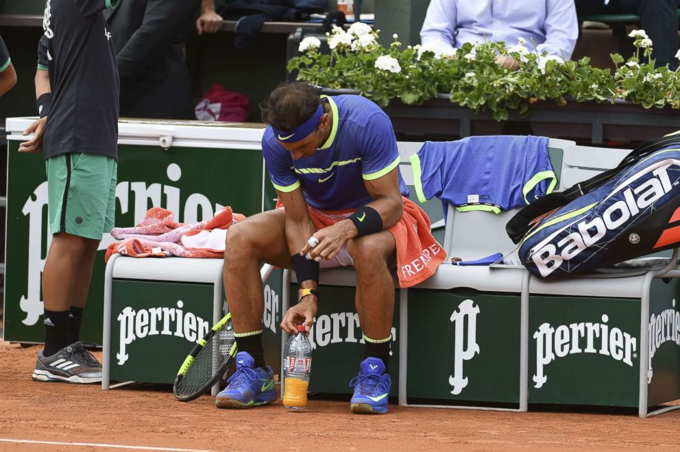 PHOTO: Rafael Nadal during his match against Roberto Bautista Agut in Roland Garros in Paris.
