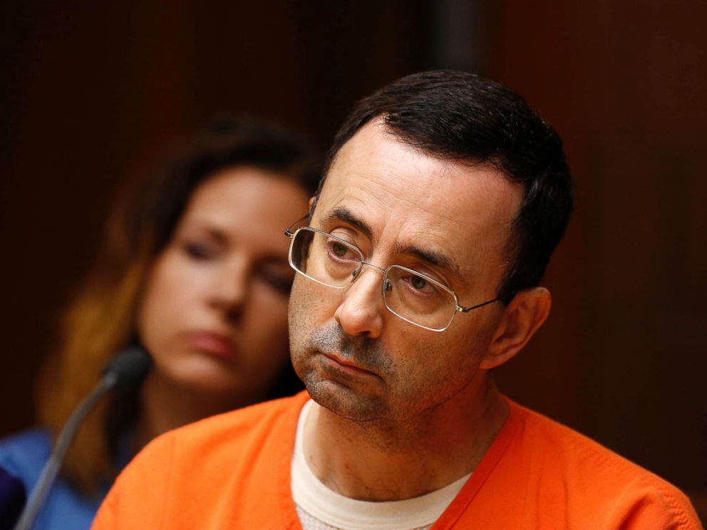 PHOTO: Former Michigan State University and USA Gymnastics doctor Larry Nassar is seen in the district court, June 23, 2017 in Mason, Mich. to stand trial on 12 counts of first-degree criminal sexual conduct.
