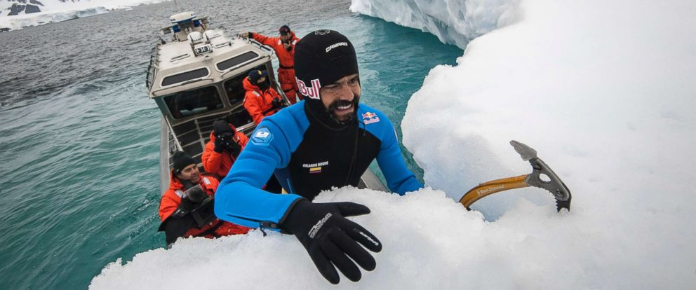 PHOTO: Orlando Duque is seen during a trip to Antarctic on January 15, 2018