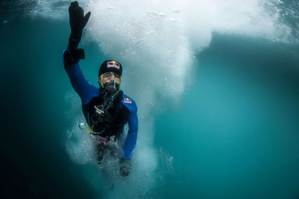 PHOTO: Orlando Duque is seen after diving during a trip to Antarctic on January 26, 2018.