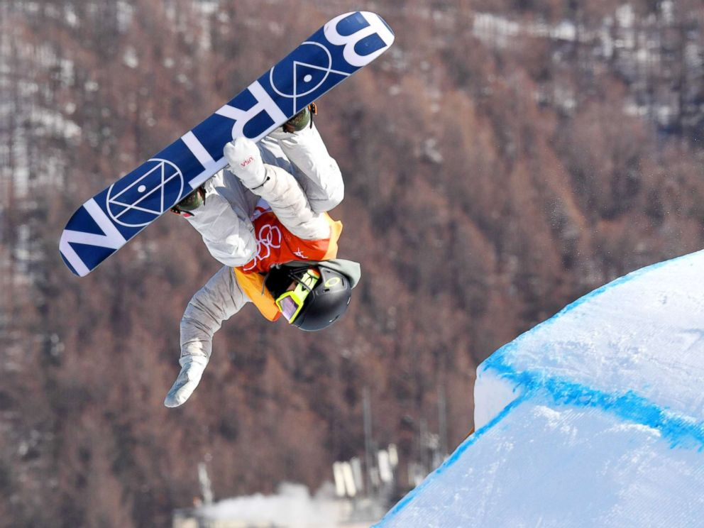 PHOTO: American Redmond Gerard takes to the air on his way to winning the gold medal in the mens slopestyle snowboarding event at the Pyeongchang Winter Olympics in South Korea on Feb. 11, 2018.
