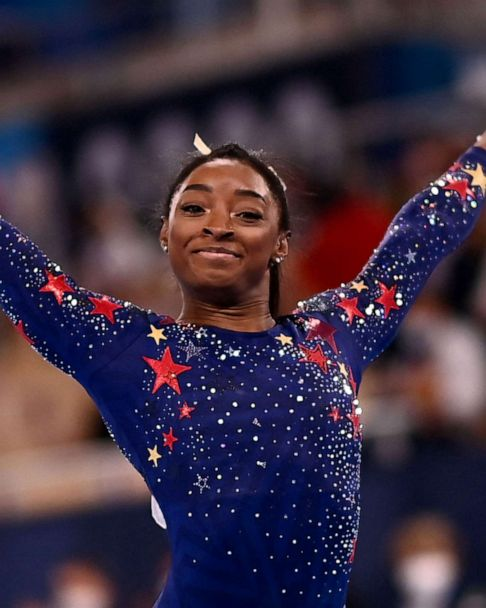 Simone Biles and the U.S. gymnasts competing in Tuesday's Olympic finals   GMA