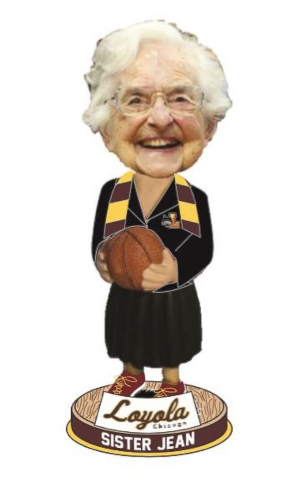 PHOTO: The National Bobblehead Hall of Fame and Museum licensed Sister Jeans image form Loyola-Chicago University to make bobbleheads of her, which have become their bestselling product of all time.