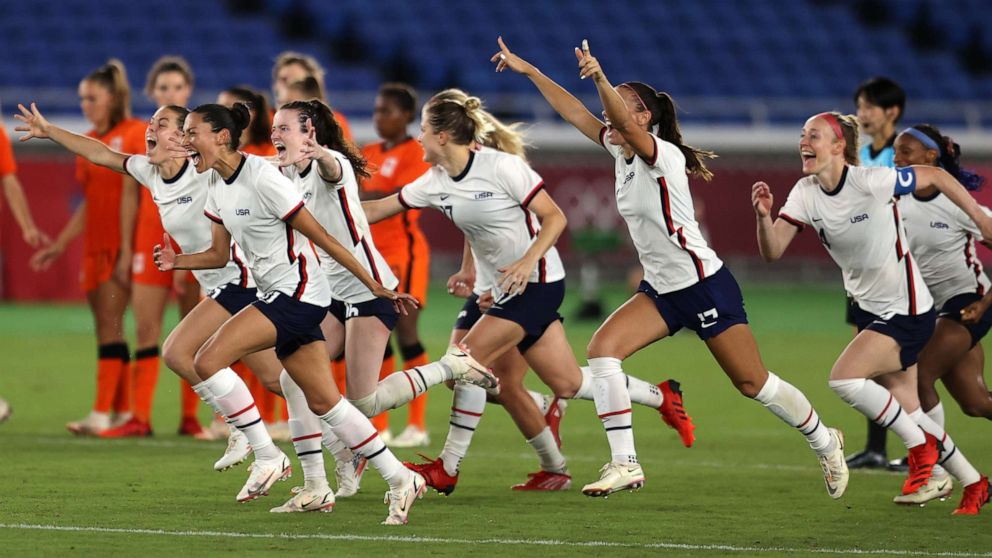 US soccer team wins nail-biter against Netherlands with penalty kicks in Olympics quarterfinal