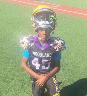 PHOTO: 11-year-old Karon Brown was a Woodland Tigers player who was on his way to football practice when he was fatally shot after a dispute broke out. Someone fired into the car the boy was riding in.