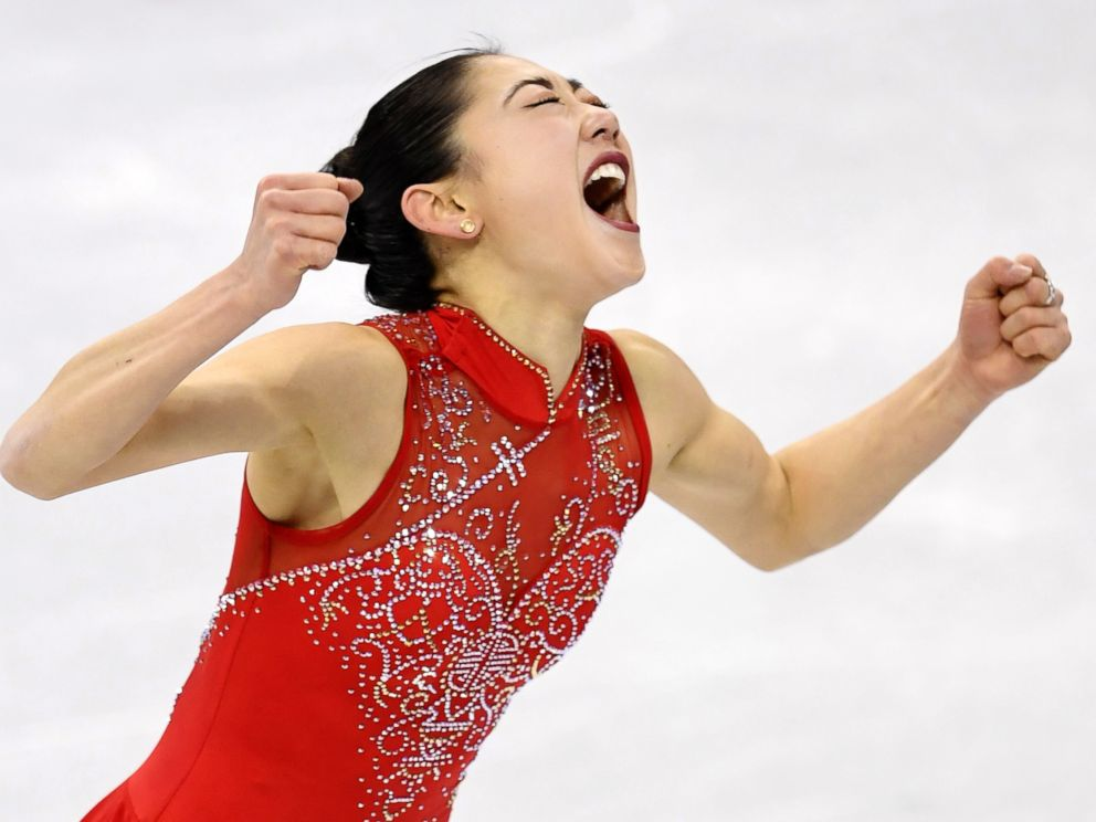 PHOTO: Mirai Nagasu, of the United States, reacts during the figure skating team event at the Pyeongchang Winter Olympics in Gangneung, South Korea, on Feb. 12, 2018.
