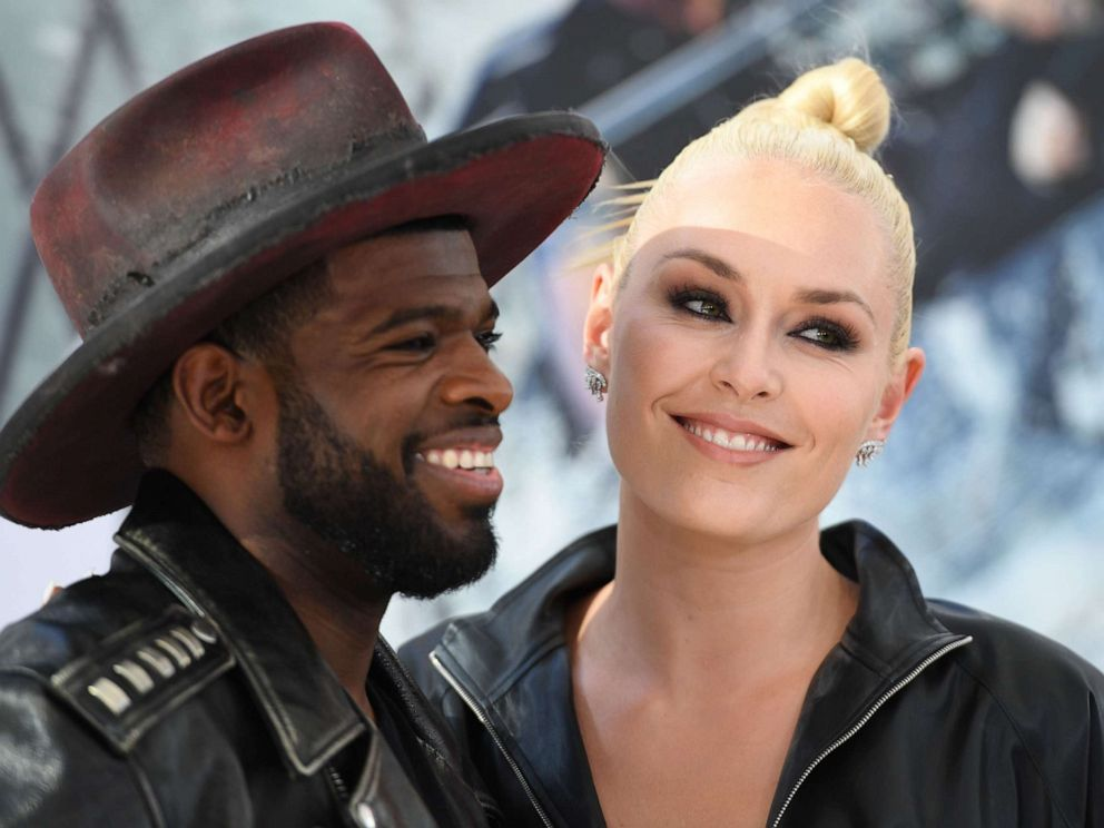 PHOTO: In this file photo taken on July 13, 2019, Canadian ice hockey player P.K. Subban and U.S. former alpine ski racer Lindsey Vonn attend the world premiere of Fast & Furious presents Hobbs & Shaw, at the Dolby Theatre in Hollywood, Calif.
