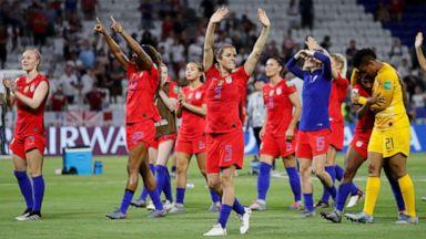 Us Vs England In World Cup Us Wins As Megan Rapinoe Has Minor Strain Abc News