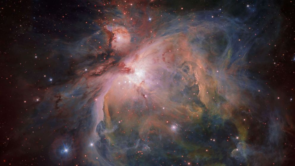 The Orion Nebula and its associated cluster of young stars are photographed by the European Southern Observatory, July 26, 2017.