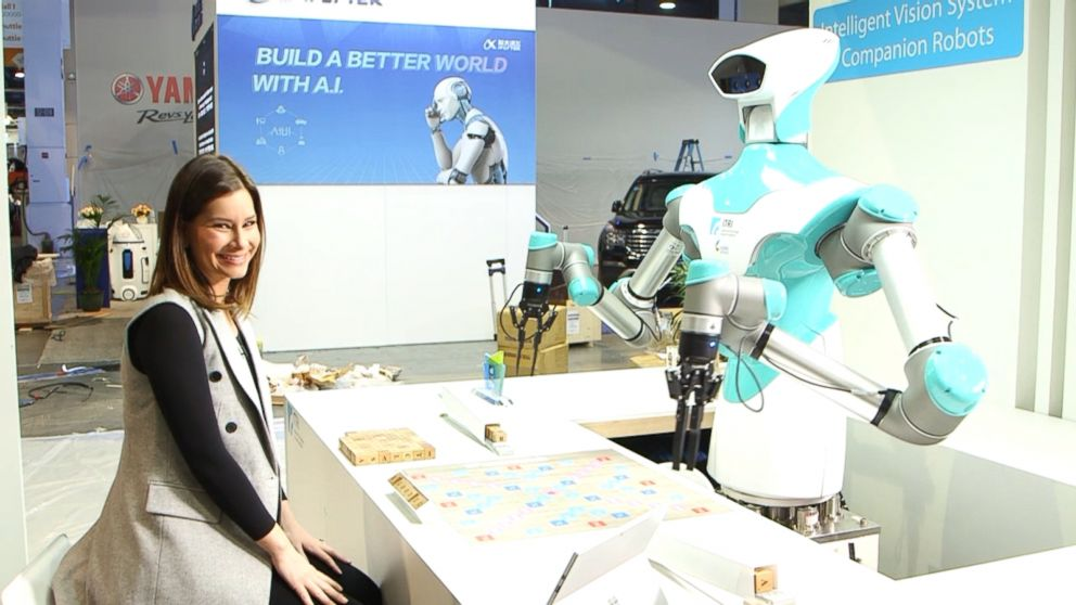 Good Morning America Robot : Playing scrabble with a robot at ces video abc news