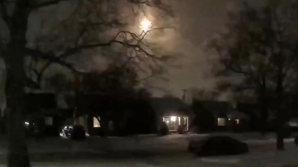 PHOTO: Image taken from video, Jan. 16, 2018, showing the meteor that the National Weather Service tweeted USGS confirms meteor occurred around 810 pm, causing a magnitude 2.0 earthquake.