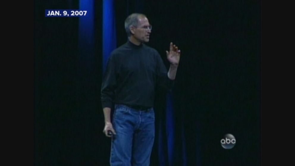 Steve Jobs introduces the first iPhone.