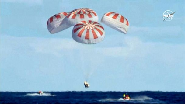 SpaceX makes history with splashdown