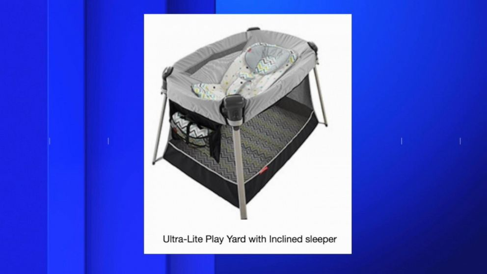 Fisher-Price recalls Ultra-Lite Day & Night Play Yards inclined sleeper accessory