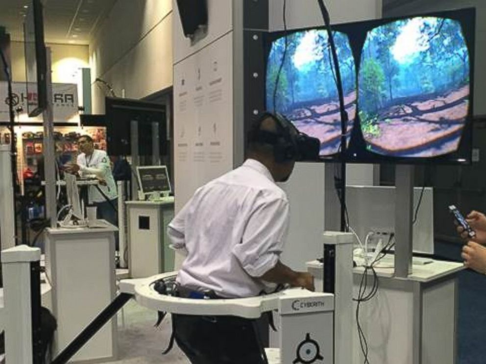 PHOTO: A gamer is shown using the Oculus Rift headset at E3.