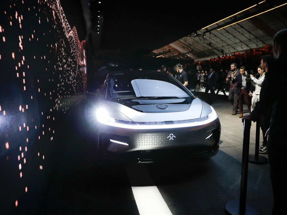 PHOTO: Faraday Futures FF91 electric car is unveiled during a news conference at CES International, Jan. 3, 2017, in Las Vegas.