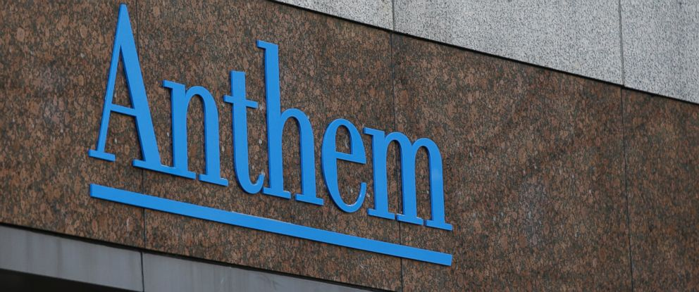 PHOTO: The Anthem logo at the companys corporate headquarters is seen in this Dec. 3, 2014 file photo in Indianapolis.