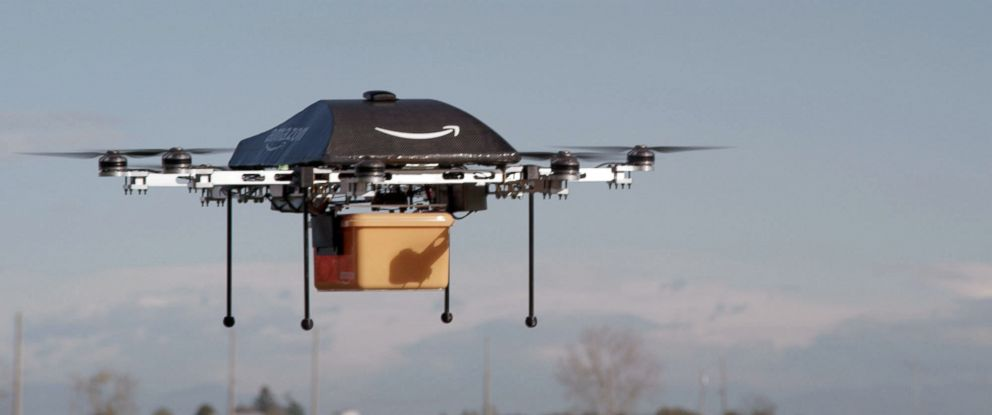 PHOTO: This undated image provided by Amazon.com shows the so-called Prime Air unmanned aircraft project that Amazon is working on in its research and development labs.