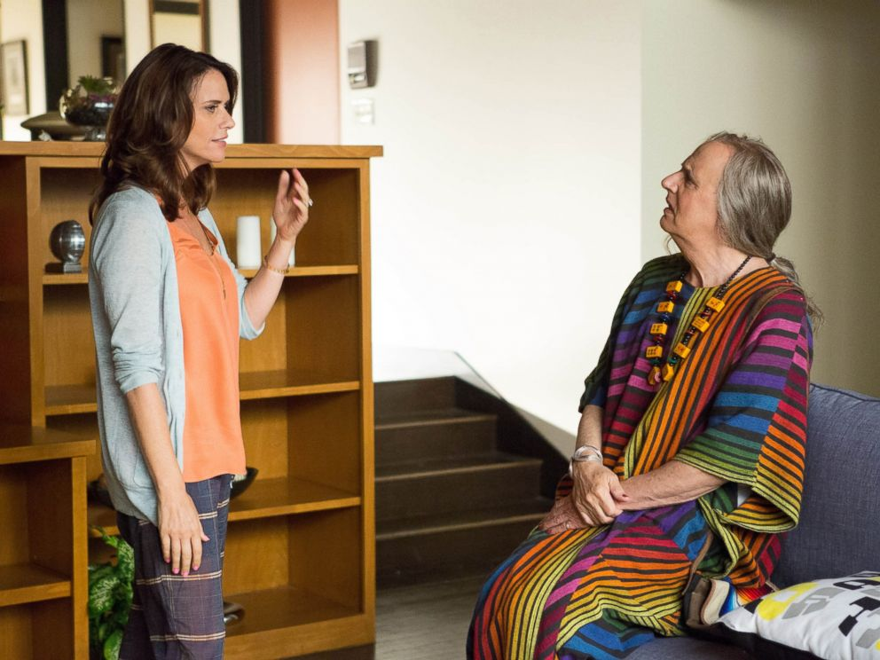 PHOTO: Amy Landecker, left, and Jeffrey Tambor appear in a scene from Transparent, a series from Amazon Studios.