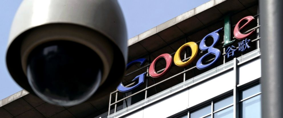 PHOTO: A surveillance camera is seen in front of the Google China headquarters in Beijing in this March 23, 2010 file photo.