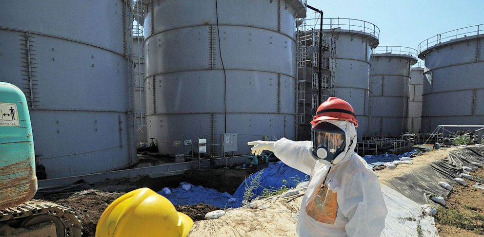 PHOTO: storage tanks at the Fukushima Dai-ichi nuclear plant